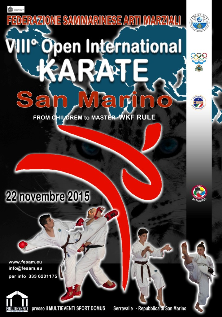 VIII° Open International Karate San Marino 2015