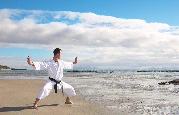 Karate on the beach