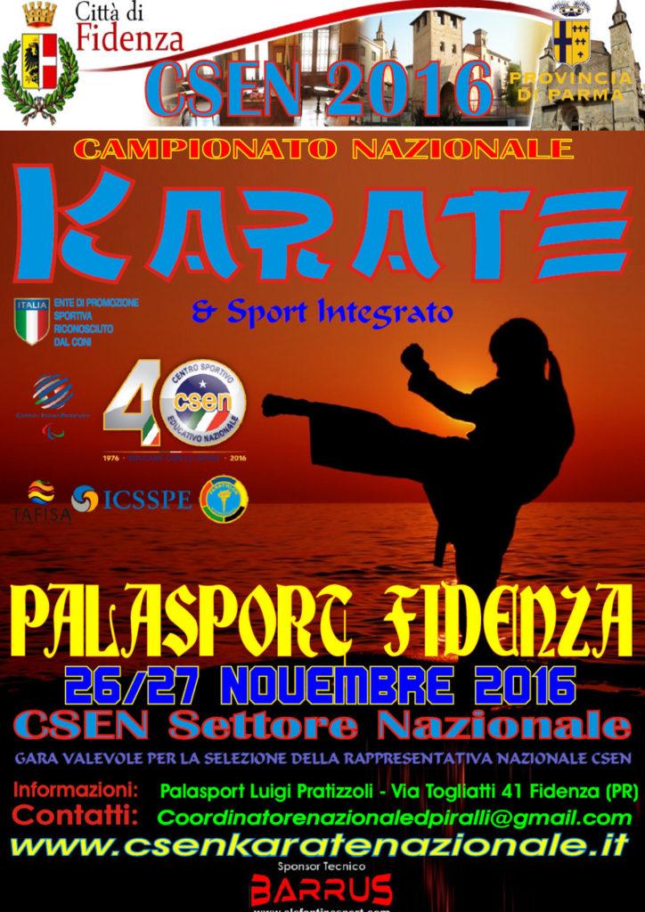 Campionato Nazionale Karate 2016 – Città di Fidenza